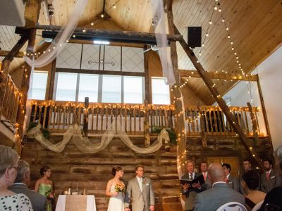 Ceremony in the Barn at Badger Farms
